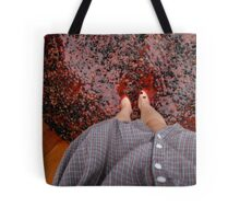 Perspective Stomping Grapes Tote Bag