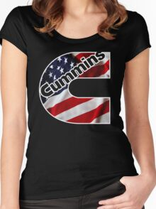 Cummins US Flag  Women's Fitted Scoop T-Shirt