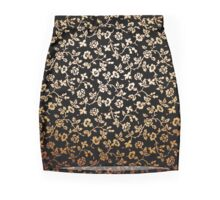 Golden Flowers Pencil Skirt