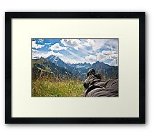 Relaxing in the mountains Framed Print