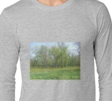 Forest glows,the forest signs... Long Sleeve T-Shirt