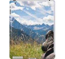 Relaxing in the mountains iPad Case/Skin