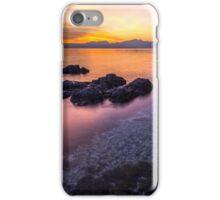 Beautiful sunset on the lake iPhone Case/Skin