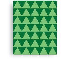 Triangles Green Canvas Print