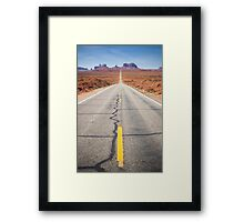 Open Road in the Monument Valley Framed Print
