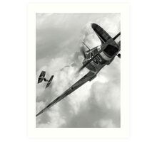 Spitfire VS Tie Fighter Art Print