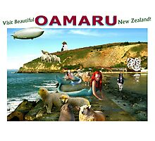 Mermaid Shepherds of Oamaru. Photographic Print