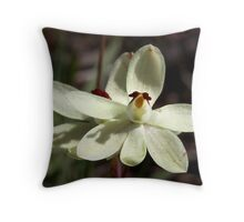 Thelymitra antennifera.  Rabbit ears. Throw Pillow