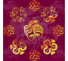 Crow Mandala 2 Photographic Print