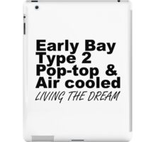 Early Bay Pop Type 2 Pop Top Black LTD iPad Case/Skin