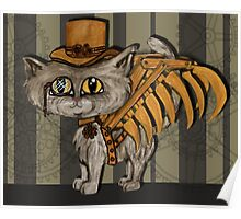 Mr. Tipps, steampunk kitty cat fairy Poster