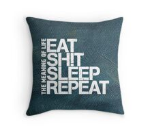 The Meaning of Life (white) Throw Pillow