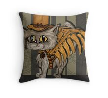 Mr. Tipps, steampunk kitty cat fairy Throw Pillow