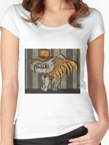 Mr. Tipps, steampunk kitty cat fairy Women's Fitted Scoop T-Shirt