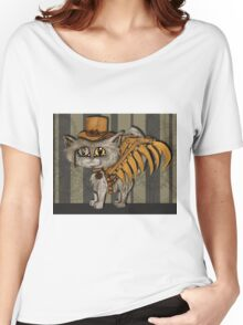 Mr. Tipps, steampunk kitty cat fairy Women's Relaxed Fit T-Shirt
