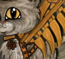 Mr. Tipps, steampunk kitty cat fairy Sticker