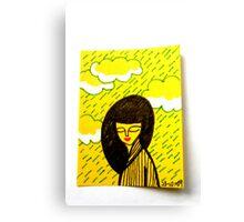 Tiny Diary: Silver Lining Canvas Print