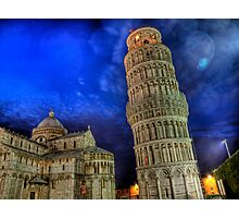 Leaning Tower of Pisa - at Night Photographic Print