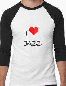 I LOVE JAZZ. Men's Baseball ¾ T-Shirt