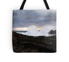 Not safe to be on the bridge tonight Tote Bag
