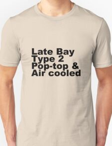 Late Bay Type 2 Pop Air Black Unisex T-Shirt
