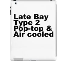 Late Bay Type 2 Pop Air Black iPad Case/Skin