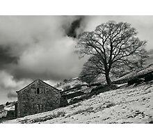 Snowy Ruin Photographic Print
