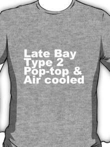 Late Bay Type 2 Pop Air White T-Shirt