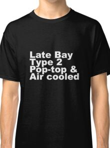 Late Bay Type 2 Pop Air White Classic T-Shirt