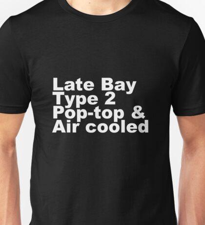 Late Bay Type 2 Pop Air White Unisex T-Shirt