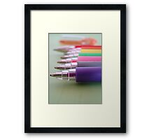 Coloured Gels Framed Print