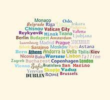 Capital cities of Europe by jankoba