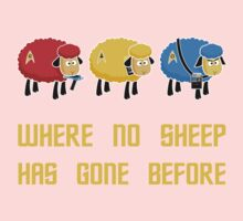 Where no Sheep Has Gone Before Baby Tee