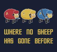 Where no Sheep Has Gone Before Kids Tee