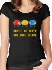 Where no Sheep Has Gone Before Women's Fitted Scoop T-Shirt