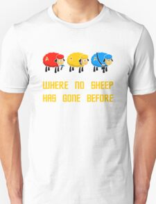 Where no Sheep Has Gone Before Unisex T-Shirt