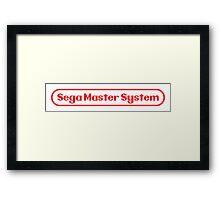 Sega Master System/Nintendo Logo Parody Framed Print