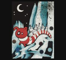 Red and white worm T-Shirt
