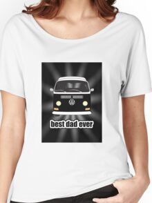 Best Dad Ever Black Sunburst Early Bay Women's Relaxed Fit T-Shirt