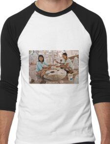 workshop of Buddha Statues, carving in marble Men's Baseball ¾ T-Shirt