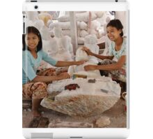 workshop of Buddha Statues, carving in marble iPad Case/Skin