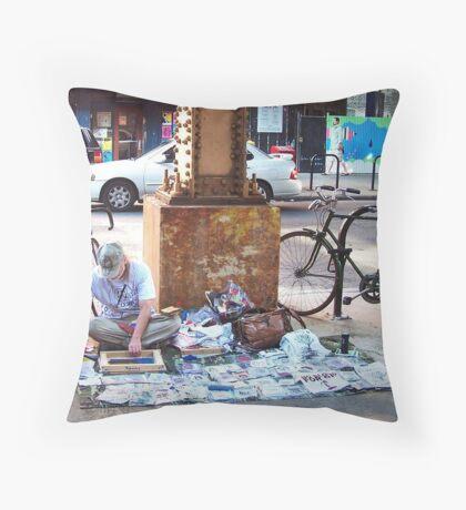 The Vendor Throw Pillow