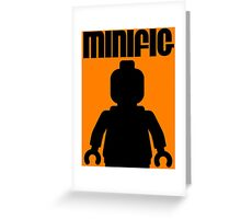 Retro Large Black Minifig, Customize My Minifig Greeting Card