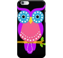 Owl Dots  Black iPhone Case/Skin