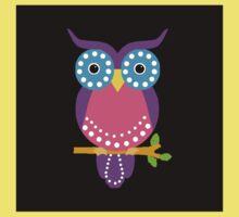 Owl Dots  Black Kids Clothes