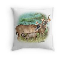 GREATER KUDU 4 Throw Pillow