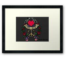 Love & Peace Framed Print
