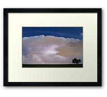 Airliner Lightning Strike Framed Print