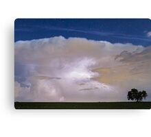 Airliner Lightning Strike Canvas Print