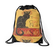 Soon, the Black Cat Tour by Rodolphe Salis Drawstring Bag